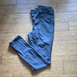 Charlotte Russe Smoky Gray Skinny Jeans